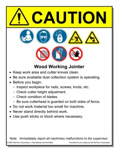 Wood Working Placards