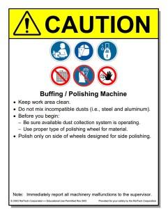Metal Working Placards